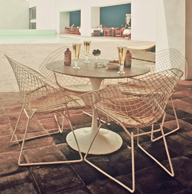 Modern Charlotte - Bertoia Patio Chairs